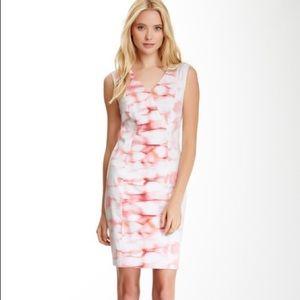 T Tahari Sheath Dress with Mesh Inserts Size 4